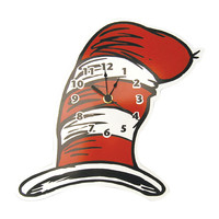 Wall Clock - Dr. Seuss Cat In The Hat - Hat