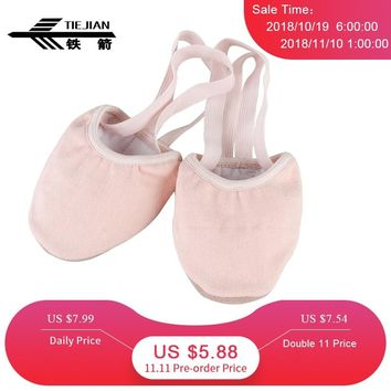 Half Sole Stretch Women Dance Shoe Soft Exercise Rhythmic Gymnastics Shoes Slippers Non-slip Belly Dancing Shoes For Adult 08
