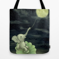 Give me a string, I will fly to the Moon! Tote Bag by Nirvana.K