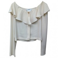 White Polyester Top CHANEL