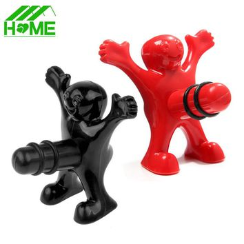 Happy Man Wine Stopper vacuum gift Christmas champagne glasses novelty stoppers accessories Plug Perky wedding favors and gifts