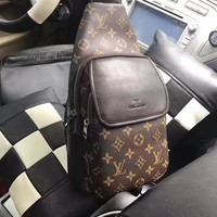LV Louis Vuitton MEN'S MONOGRAM LEATHER CHEST PACK BAG