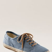 $23.99 SALE: Women's Amory Flat Espadrille Oxford (3 colors) - Lands' End Canvas