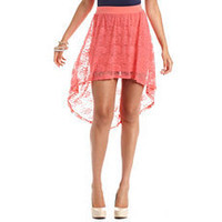 Hi-Low Lace Skirt: Charlotte Russe