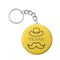 Texas in Yellow 2 Keychain