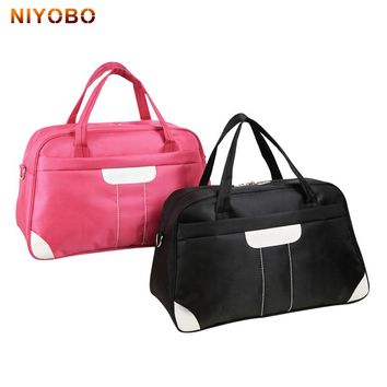 New Women Travel Bag Large Capacity Waterproof Nylon Duffle Luggage Shoulder Bag Female Weekend Bags Multifunctional Travel Tote