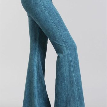 Mineral Wash Bell Bottoms Dark Colors