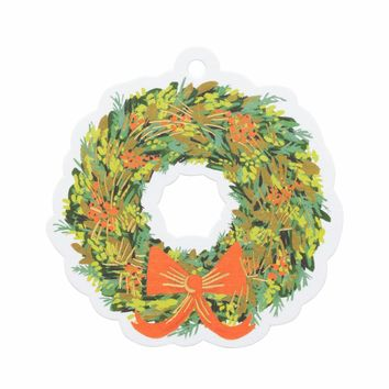 Rifle Paper Co. Holiday Die-Cut Gift Tags - Wreath