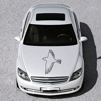 BEAUTIFUL BIRD FLIES ANIMAL ART DESIGN HOOD CAR VINYL STICKER DECALS SV1280