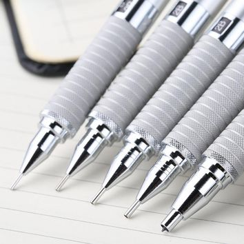 Genuine Staedtler 925 25 Mechanical Pencil Silver Handle Drawing Graphics/Design 0.3/0.5/0.7/0.9/2.0mm School & Office Supplies