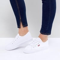 Levi's Canvas Shoe with Red Tab at asos.com