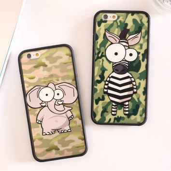 Hot Deal On Sale Iphone 6/6s Cute Stylish Hot Sale Camouflage Iphone Apple Couple Cartoons Soft Phone Case [4915488132]