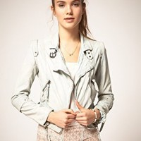 Pepe Jeans Leather Jacket at asos.com