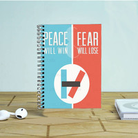 Twenty One Pilots Peace Fear Photo Notebook Auroid