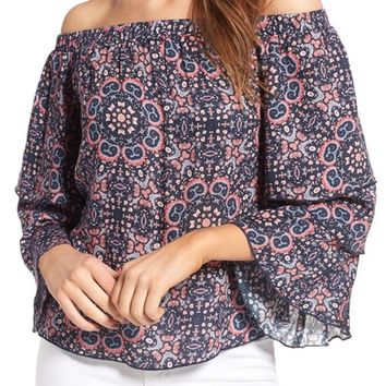 Ella Moss Minoro Mosaic Off the Shoulder Blouse | Nordstrom