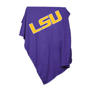 LSU Tigers NCAA Sweatshirt Blanket Throw