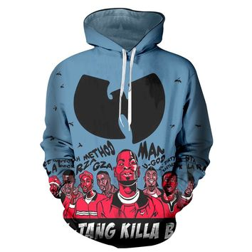 New Autumn Men Hoodies Sweatshirts 2017 Winter /Women Sweatshirts Print Wu Tang Clan 3d Hoodies Hip Hop Hooded Hoody 6XL