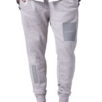 Been Trill Zip Jogger Sweatpants - Mens Pants - Grey