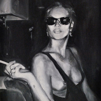 Kate Moss Painting Art Print by Beth Zimmerman Illustration | Society6