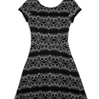 AQUAGirls' Lace Patterned Embroidered Knit Dress, Sizes S-XL - 100% Exclusive