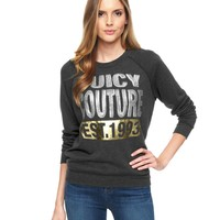 Sequin Graphic Glamour-Soft Pullover by Juicy Couture