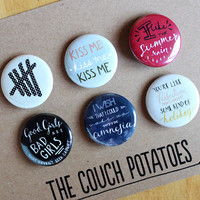 "5 Seconds of Summer 1.25"" Buttons 6 Pack - GIRLY 5SOS"