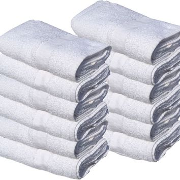 "Economy Bath Towels (24""x 48"") Ring-spun Cotton for Maximum Softness Easy Care Hotels/Motels Home use"