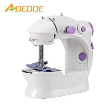 ABEDOE Electric Household Sewing Machine 2-Speed Portable Tailor Small Mini Multifunction Automatic Tread Rewind Sewing Machine