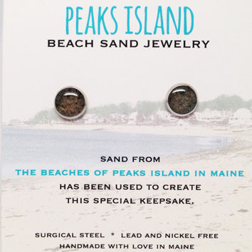 Peaks Island Beach Sand Jewelry, Peaks Island Sand Jewelry, Beach Sand Jewelry, Sand Jewelry, Summer, One of a Kind Gift, Made in Maine