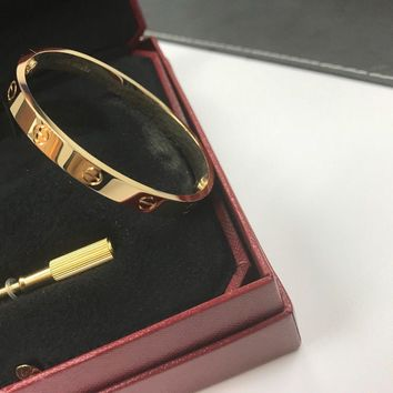Cartier Love Bracelet 18K Yellow Gold -Size 16 CM With Tools Box & Paper new