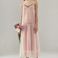 Sheer Organza Maxi Dress