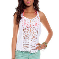 Loopy Button Down Tank Top ~ TOBI