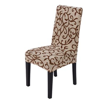 2016 Super Fit Stretch Removable Washable Short Dining Chair Cover Protector Seat Slipcover for Hotel Home Dining Room Ceremony