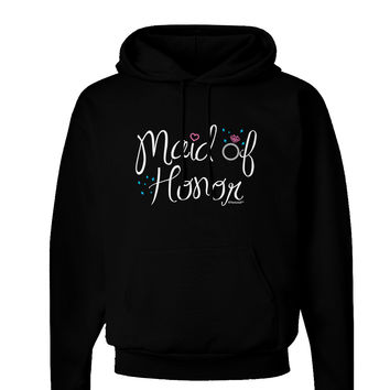 Maid of Honor - Diamond Ring Design - Color Dark Hoodie Sweatshirt