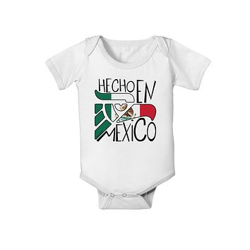 Hecho en Mexico Design - Mexican Flag Baby Romper Bodysuit by TooLoud
