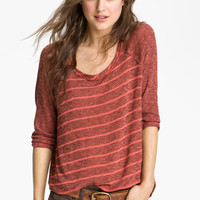 Free People 'Last Call' Striped Baseball Sweater   Nordstrom