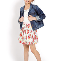FOREVER 21 GIRLS Favorite Floral Skirt (Kids) Cream/Pink