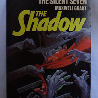 1976 Vintage Paperback Book THE SHADOW by Maxwell Grant The Silent Seven Master of Darkness Pyramid Book