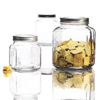 Anchor Hocking 3-Piece Cracker Jar Glass Canister Set - Walmart.com
