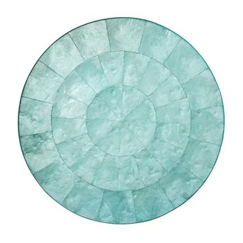 Capiz Placemat in Ocean - Set of 4