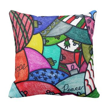 Adorning Ornaments Throw Pillow
