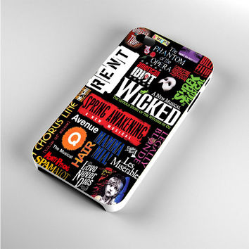 Broadway Musical Collage Art iPhone 4s Case