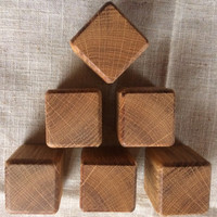 15 Natural Oak Wood Blocks, Oak Wooden Blocks, Natural Wood Blocks