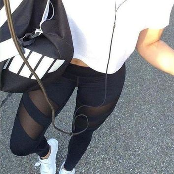 ACTIVEWEAR MESH PANEL LEGGINGS