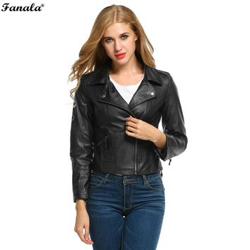 Motorcycle Leather Jacket Coat