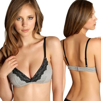 Cotton Wireless Demi Bra 10399