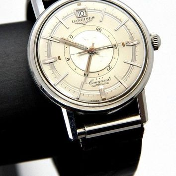 Longines Conquest 24 Jewels Automatic Date Watch--Runs AS2172