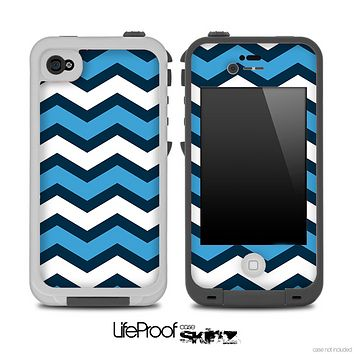 Navy Blue Wide Chevron Pattern Pattern Skin for the iPhone 5 or 4/4s LifeProof Case
