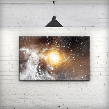 Golden Space Swirl - Fine-Art Wall Canvas Prints