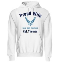 Proud Air Force Wife: Custom Unisex Gildan Heavy Blend Hoodie